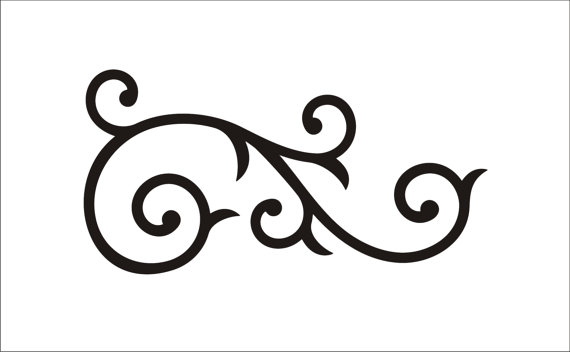 570x352 Damask Clipart Scrollwork