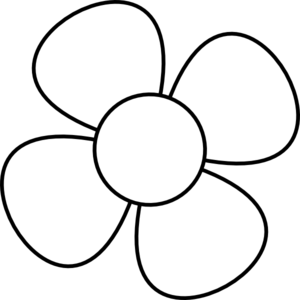 300x300 Flower Black And White Simple Flower Clipart Black And White Free