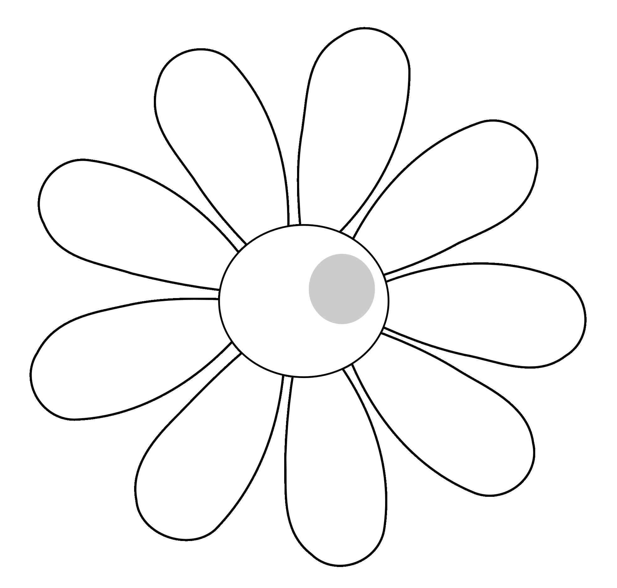 1969x1876 White Flower Clipart Simple Flower