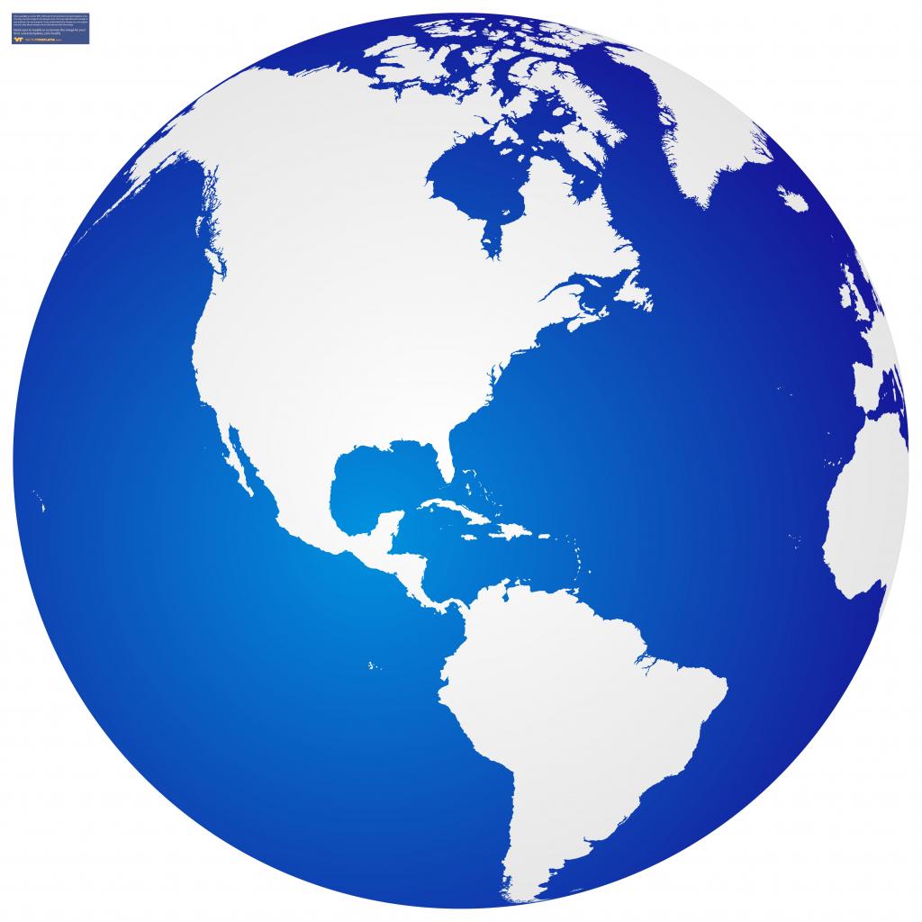 1024x1024 Globe Vector Art