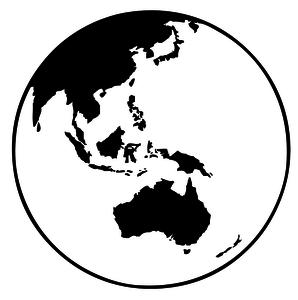 298x300 20272 Clipart Earth Globe Black White Public Domain Vectors