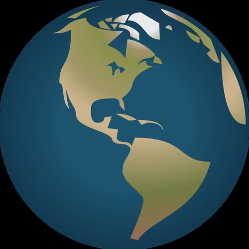 500x500 Globe Facing America Vector Illustration Public Domain Vectors