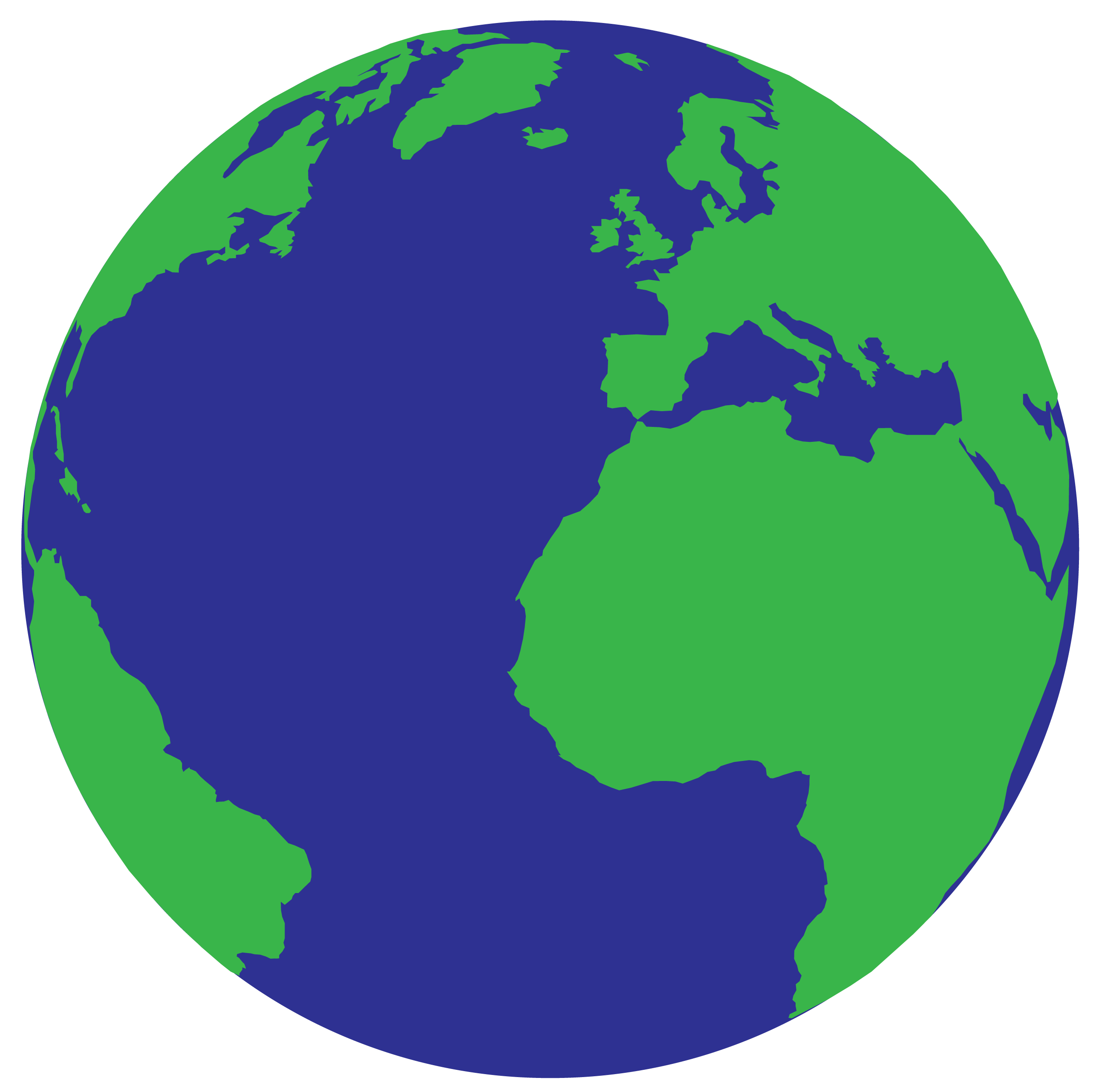 2579x2563 Globe Simple Planet Earth Clipart Kid