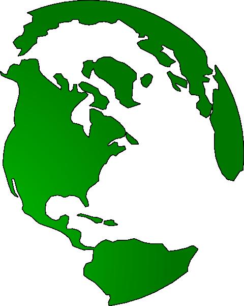 480x601 Green Globe Clipart