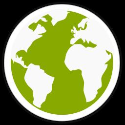 256x256 Midori Globe Icon Simple Iconset Kxmylo
