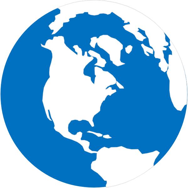 600x601 Simple Globe Clip Art