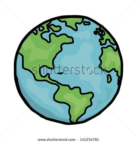 450x470 Drawn Globe Vector World