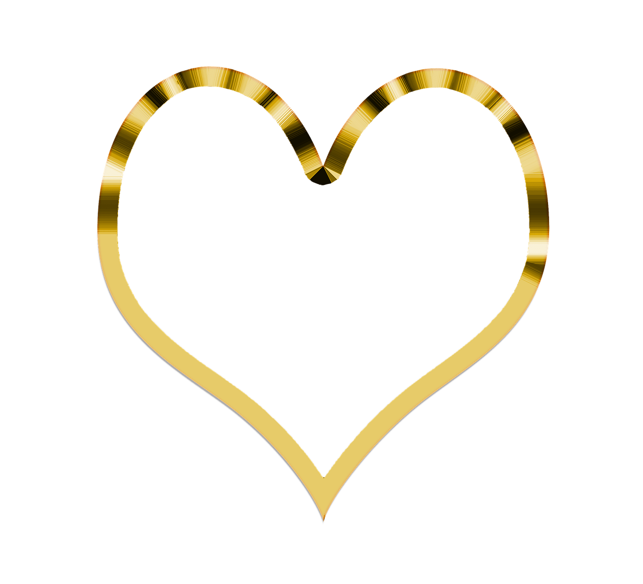 Simple heart outline free download best simple heart outline on 1280x1162 heart simple golden transparent png buycottarizona Image collections