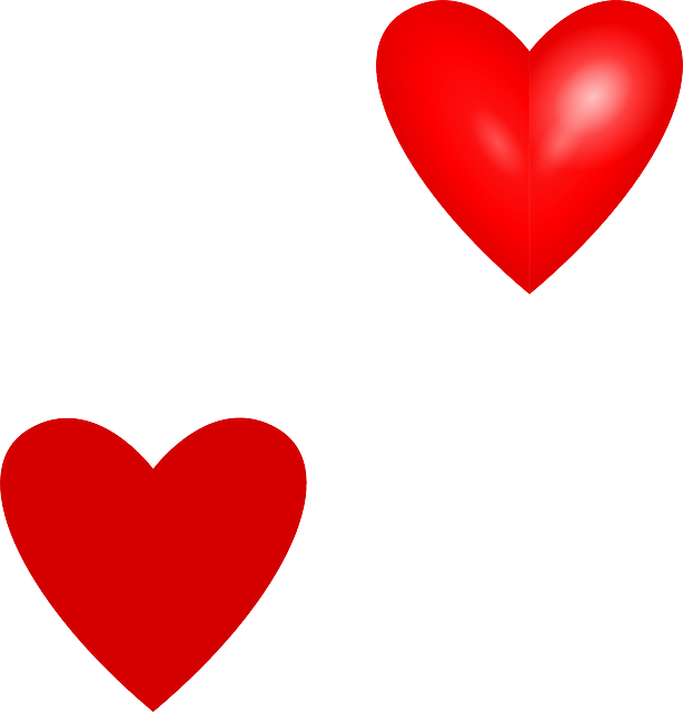 614x640 Red, Black, Simple, Small, Outline, Cartoon, Heart