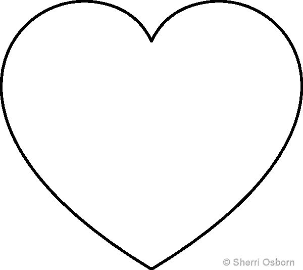 600x534 The Best Heart Template Ideas Printable Heart