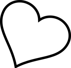 298x285 Clipart Outline Heart