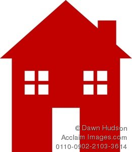 261x300 Illustration Of A Simple Icon Style House