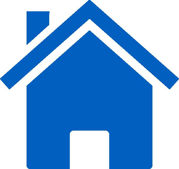 600x568 Simple Blue House Clip Art