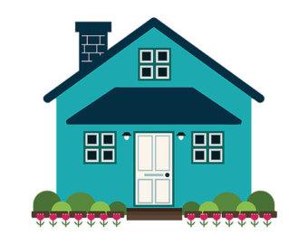 340x270 Cottage Clipart Simple House