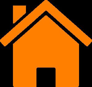 298x282 Simple Orange House Clip Art
