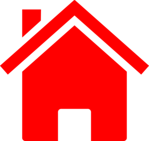 298x282 Simple Red House Clip Art