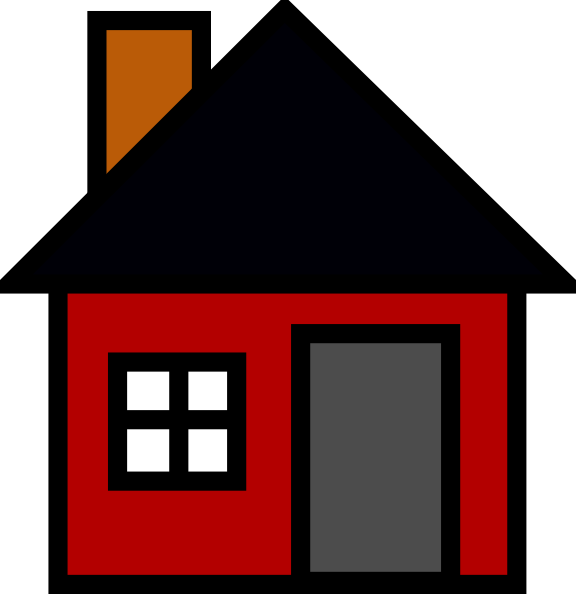 576x594 Small House Clip Art