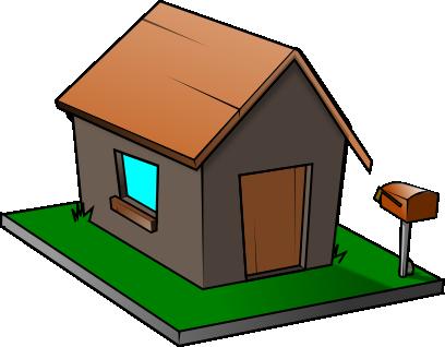 408x318 Free Simple House Clip Art