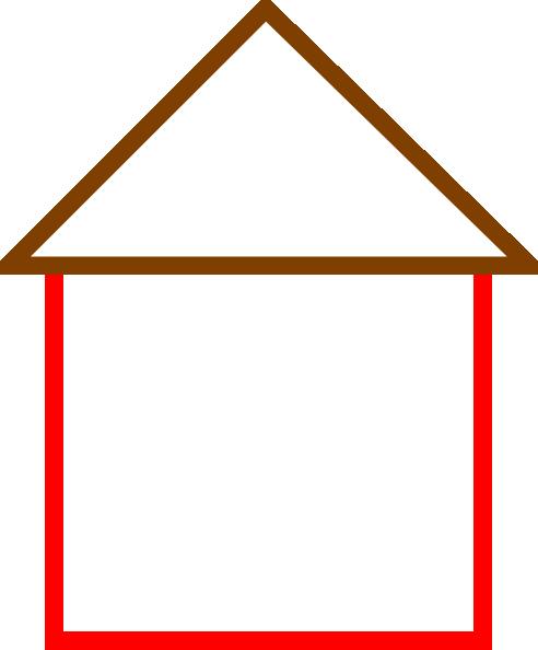 492x594 House Outline Clip Art