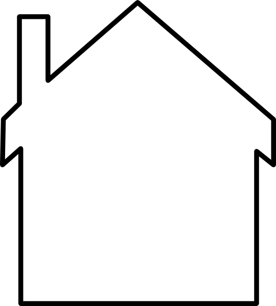 540x598 House Silhouette Clip Art