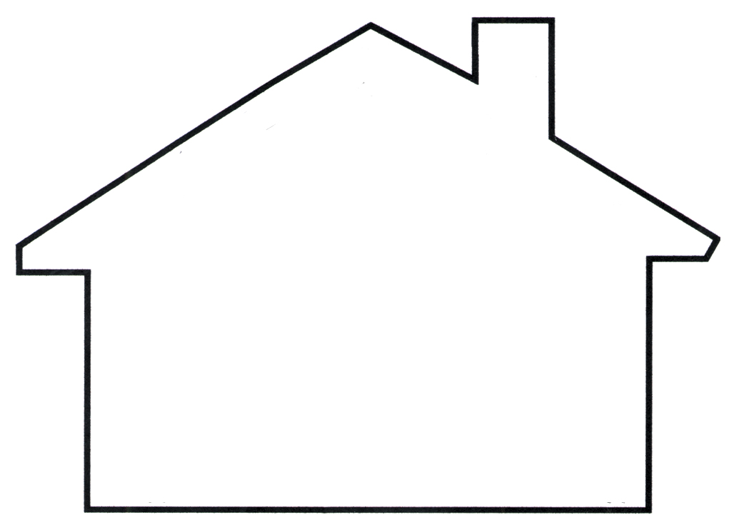 1035x742 House Outline Clipart