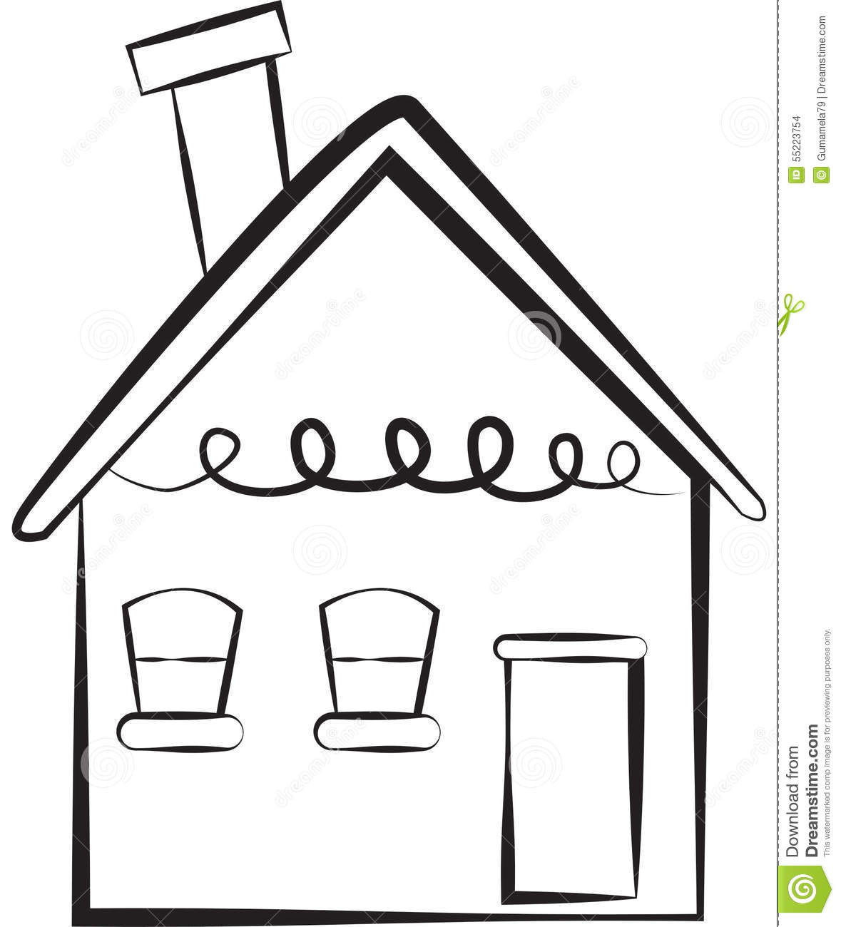 1179x1300 Illustration Clipart Simple House