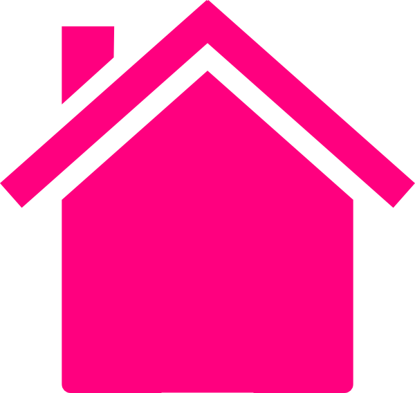 600x568 Pink House Outline Clipart