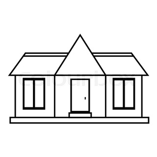 320x320 Private House Icon. Simple Illustration Of House Vector Icon