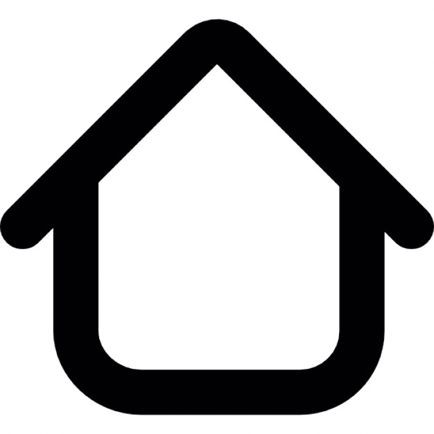 626x626 Simple House Outline Icons Free Download