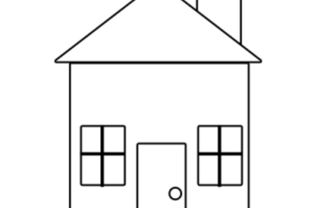 640x425 Download How To Draw A Simple House Zijiapin