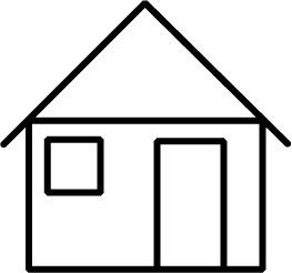 263x246 Simple Home Clipart Black And White