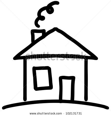 450x470 Drawn House Simple