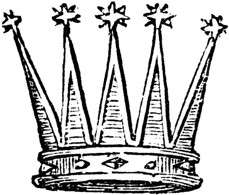 736x627 Crown Clipart Line Drawing