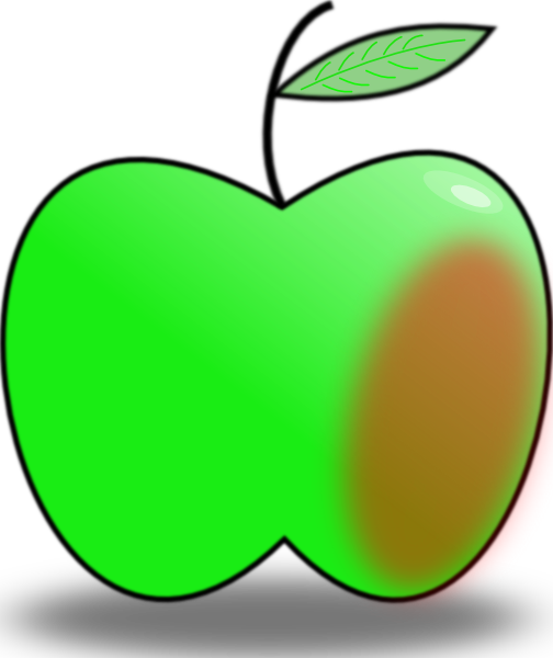 504x600 Simple Apple Clip Art