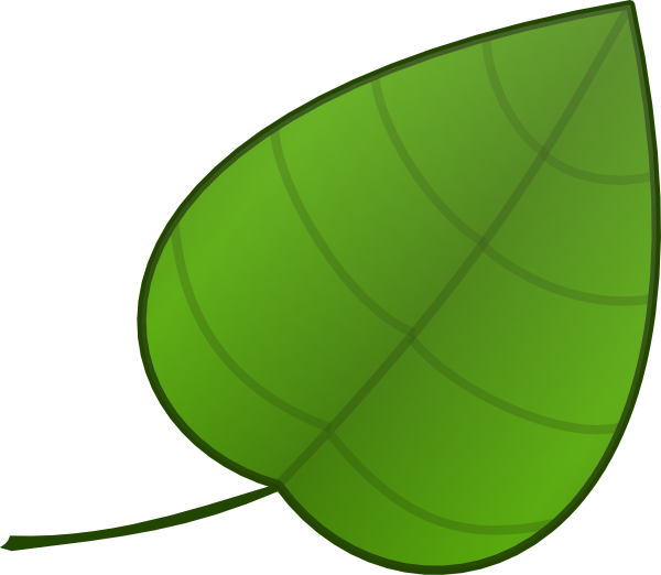 600x522 Simple Leaf Clip Art