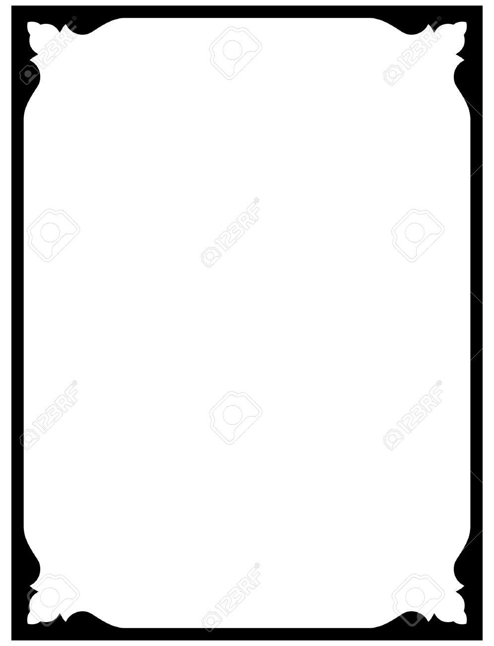 995x1300 Simple Border Frames Clip Art