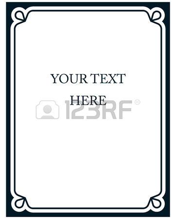 362x450 Blue Border Frame Deco Vector Art Simple Line Corner Royalty Free