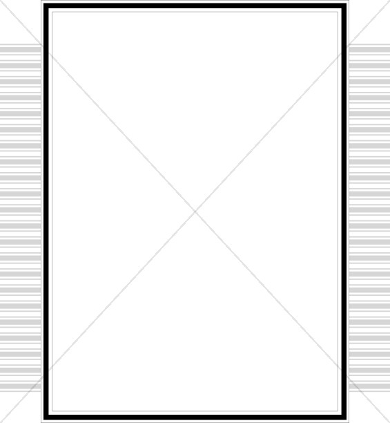 565x612 Simple Border With Gray Stacked Bars Line Borders