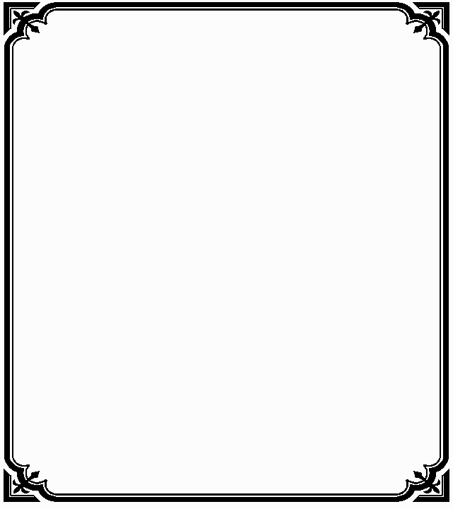 640x720 Simple Line Border Clipart