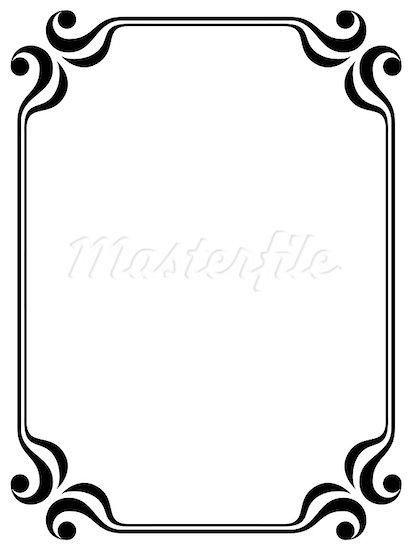 412x550 Simple Line Border Clipart