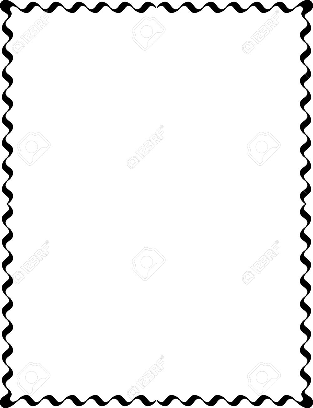 999x1300 Simple Lines, Border Frame, Vector Design, Monochrome Royalty Free