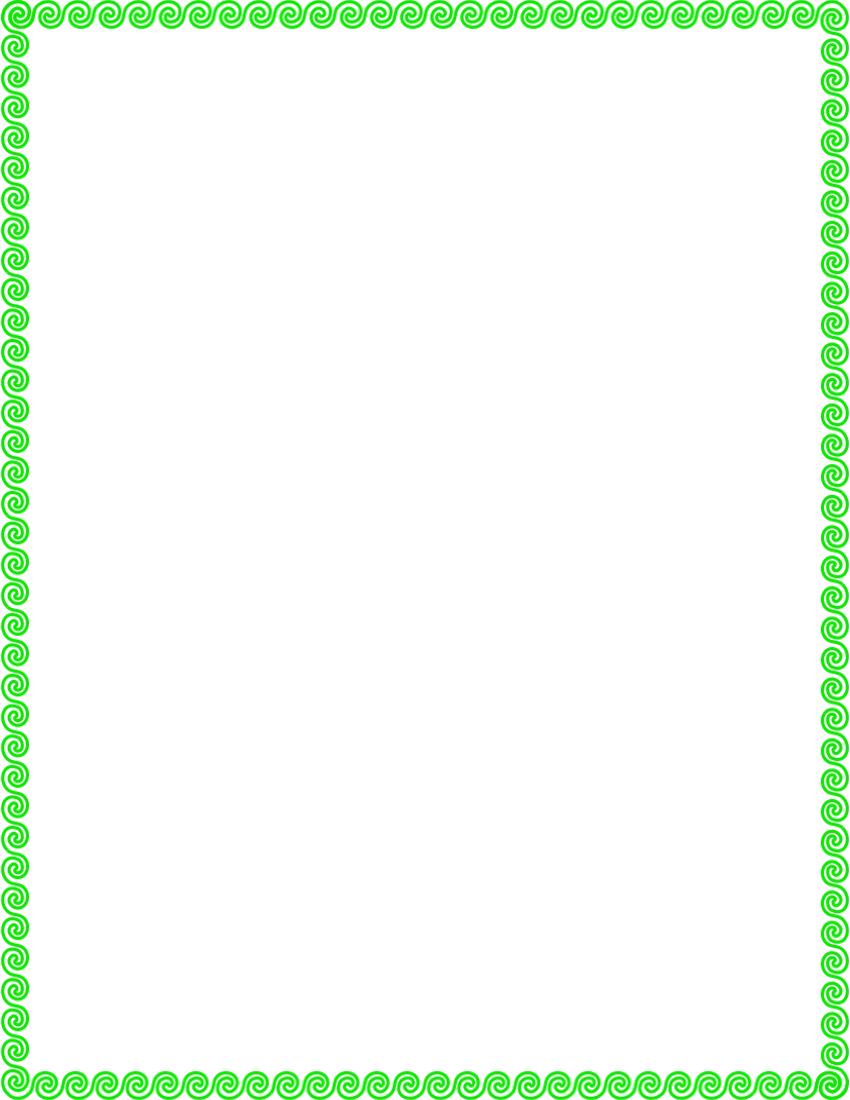 850x1100 Green Border