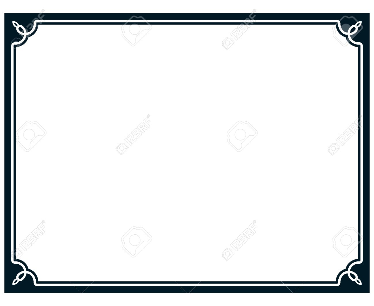 1300x1064 Border Frame Line Deco Vector Label Simple Royalty Free Cliparts