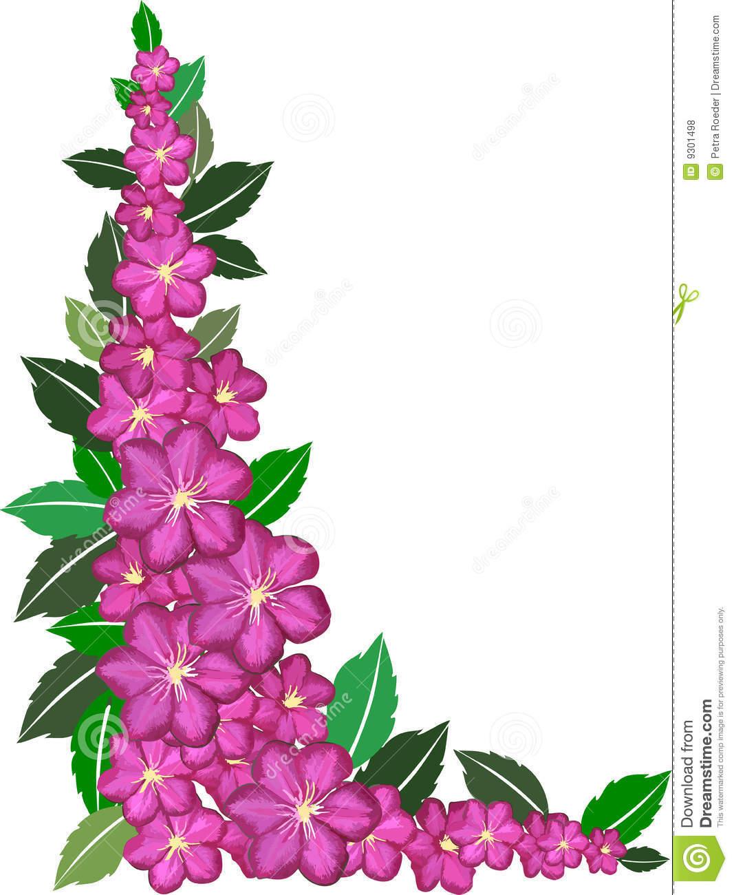 1067x1300 Purple Flower Border Clip Art Clipart Panda