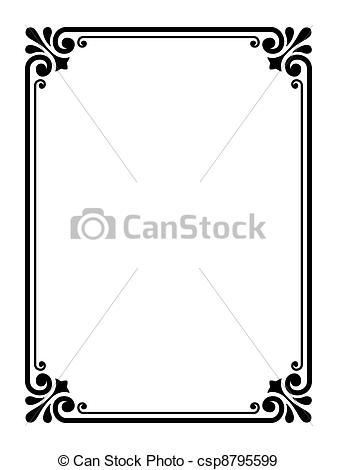 337x470 Simple Frame Clipart