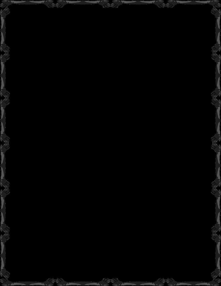 850x1100 Simple Line Border Clipart