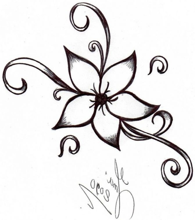 671x757 Coloring Pages Flower Drawing Designs Design Line Drawings