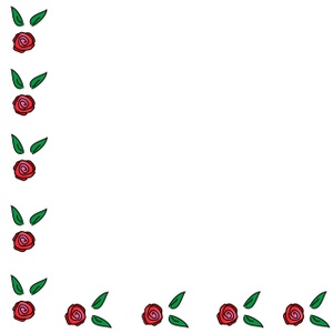 300x300 Page Border Flowers Clipart