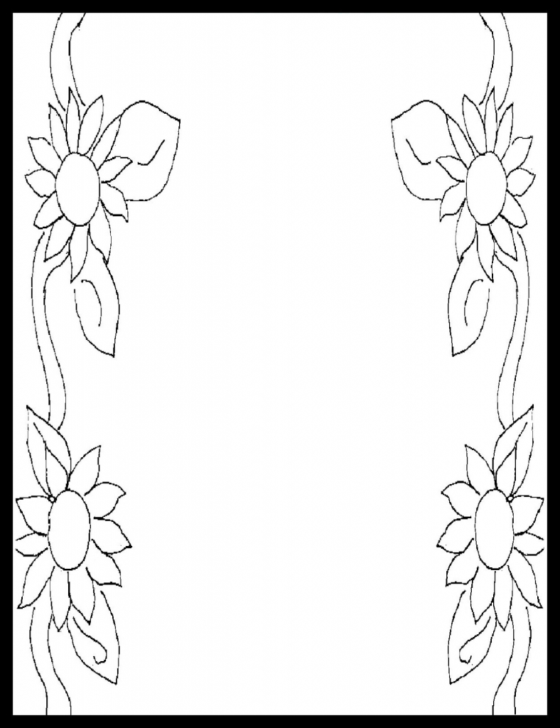 788x1024 Simple Creative Page Borders Drawn From Pencil Design Picture