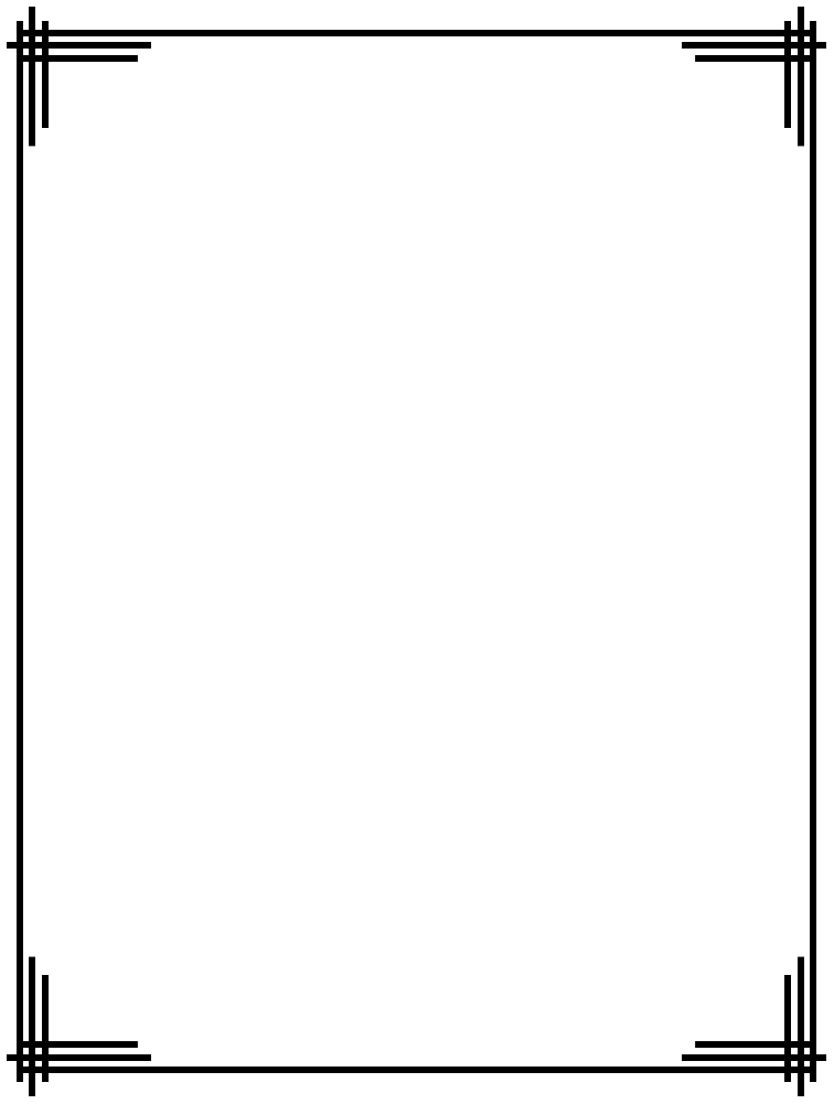 756x1001 Simple Page Borders